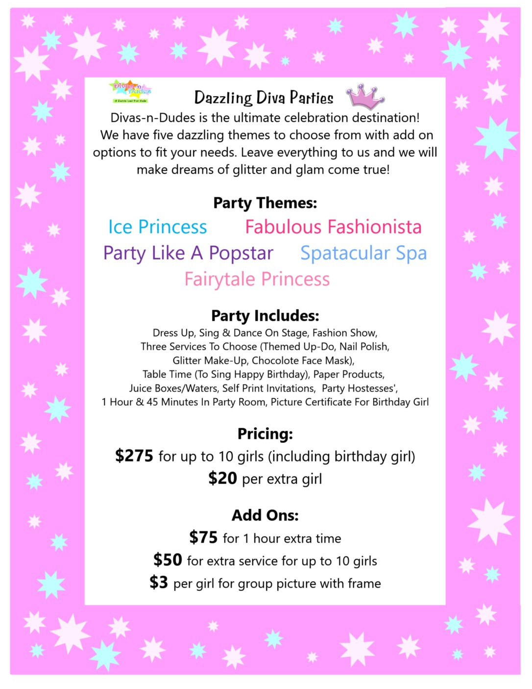 Parties – A Salon Just for Kids